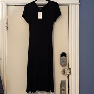 PinkBlush Maternity Black T-shirt Dress L NWT
